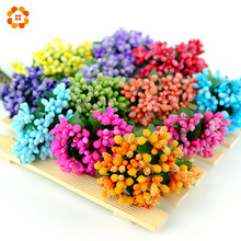 12pcs/lot Mini artificial Stamen Bud Bouquet Leaf flower for home Garden wedding Car corsage decoration Box crafts Supplies