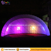 Free shipping 6x3x4 meters Inflatable half dome tent LED lighting Blow up tent with blower for kids toy tents
