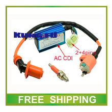 GY6 scooter 125CC 150CC 200cc high performance ac cdi and ignition coil spark plug accessories free shipping