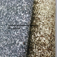 4 PCS A4 SIZE (21x29cm) Chunky Glitter Leather Glitter Fabric PU Leather for DIY Sewing 6S11(China)