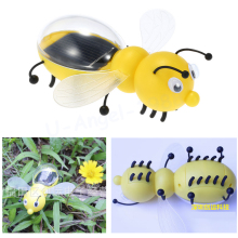 1pcs Solar Toy Cute Bee Solar Energy Powered Robot Toys For Children Kids Intelligence Development Educational Toys Wholesale