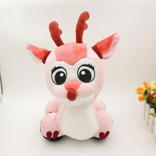 Cute Big Eyes Stuffed Deer Car Plush Moose Automobile Pink Elk Reindeer Vehicle Peluches Children Kids Girls Christmas Gifts