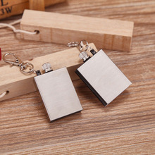 Fasion Stainless Steel Permanent Fire Metal Match Lighter Key Rings Chain Camping Hiking Survival Hot