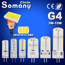 G4 LED Bulb SMD 2835 3014 G4 LED Lamp 3W 4W 5W 6W 7W 10W LED Light AC DC 12V 220V 360 Beam Angle Replace Chandelier Halogen Lamp