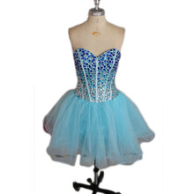 Luxury Short Girl Cocktail Dress Sexy Crystal Tulle Ball Gown Mini Party Dress Cocktail Dresses Ever Pretty Vestidos De Festa