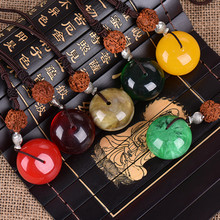 Bohemian imitation beeswax necklace goodluck necklace restoring ancient ways of cotton fiber accessories ev-boh2(China)
