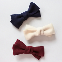 Two Layers Solid Color Large Bow Hair Clips Women Hair Barrettes Girls Hair Accessories Autumn Winter Fashion Headwear(China)