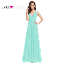 Evening Dresses Ever Pretty EP09016 Vestido Long Elegant Dresses Sweep Train Empire Rushed Double V-neck Evening Dress(China)