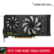 Onda NVIDIA GeForce GTX 1060 GPU 6GB 192bit Gaming VR Ready PCI-E 3.0 Video Graphics Card DVI+HDMI+DP Port with Two Cooling Fans