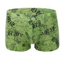 Buy 2018 New Men's 100% Cotton Trunks Breathable Comfortable Shorts Letter Print Underwear Men High Elastic Boxer Sexy Shorts 3XL