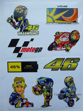 9pcs/sheet MOTO GP VR 46 rossi stickers motorcycle racing decals car styling motocross helment ATV motorbike sticker(China)