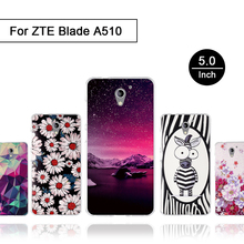 Case For ZTE Blade A510 Luxury Painting Silicone Coque for Zte A510 510 Back Cover for ZTE a510 Patterned Phone Blade A 510 Case