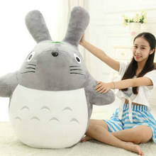 Anime Studio Ghibli Grin Miyazaki Haya Totoro Plush Toy New My Neighbor Big Kids Doll Animation Soft Pillow Gift for Children(China)
