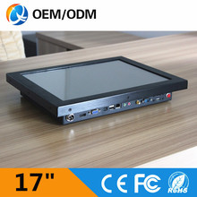 17 inch industrial computer with Intel D525 all in one pc with touch screen resolution 1280x1024 tablet pc 2GB DDR3 32G SSD(China)