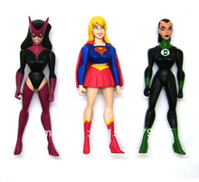 "DC JLU Justice League Unlimited Green Lantern Katma Tui Supergirl Star Sapphire 4.75"" Loose Action Figure Set Figurine Toy Doll"