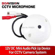CCTV Microphone Audio Pick up Device High Sensitivity 12V DC Ceiling Mount Microphone for Camera
