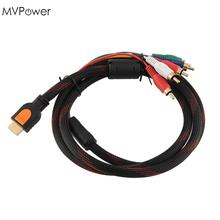 MVpower HDMI Male TO RGB Audio Video Component Convertor Adaptor Cable Drop Shipping(China)