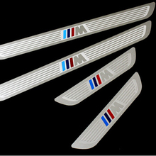 Stainless Steel M-tech Sports Guards Sills Pedal Door Sill Scuff Plate for BMW X1 E84 X3 F25 X5 E70 X6 E71 5/1/3/7 Series