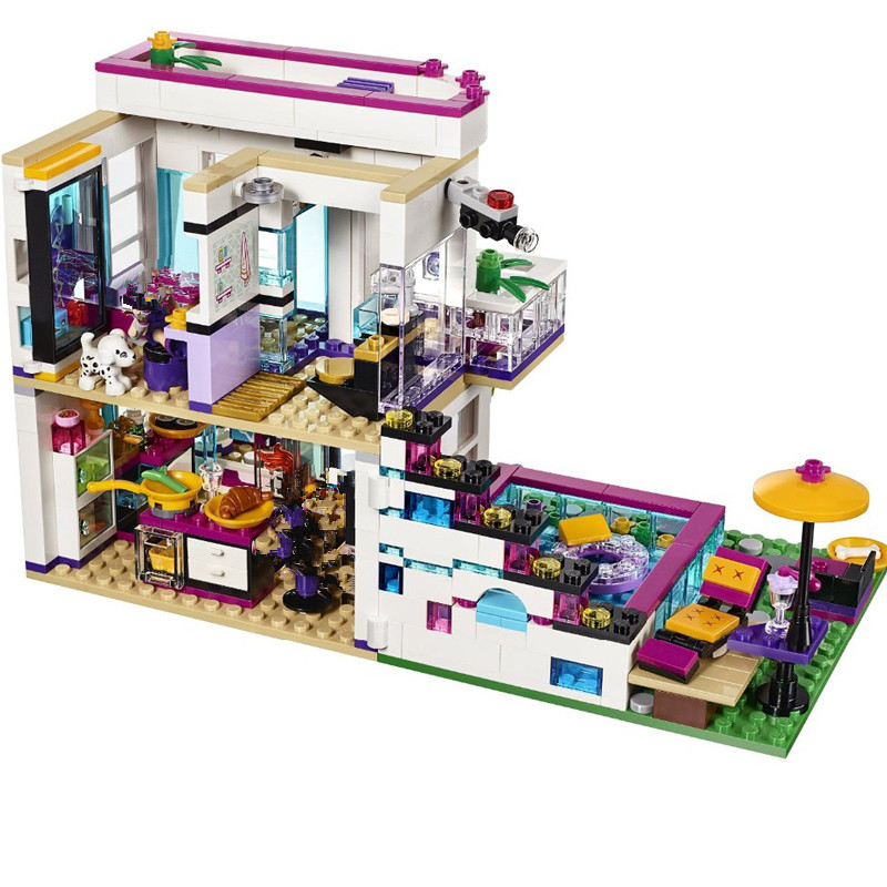 619 Pcs Bela 10498 Princess Series Livis Pop Star House Building Blocks Andrea Figures Toy Compatible with Blocks<br>