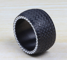 13 mm Men black titanium Tire pattern ring male accessories titanium ring male accessories finger ring male