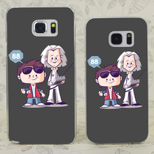 C3815 Flux Capacitor Friends Transparent Hard PC Case Cover For Samsung Galaxy S 3 4 5 6 7 Mini Edge Plus Note 3 4 5 7