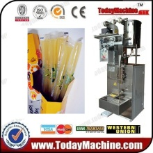 Automatically measuring volume, making bags, filling, sealing honey sachet packing machine