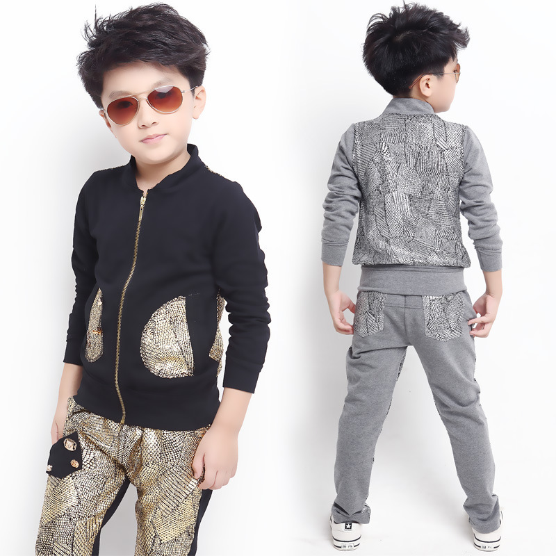New arrival spirng/autumn children clothing set boy casual 100% cotton  sweater+pants suit free shipping<br>