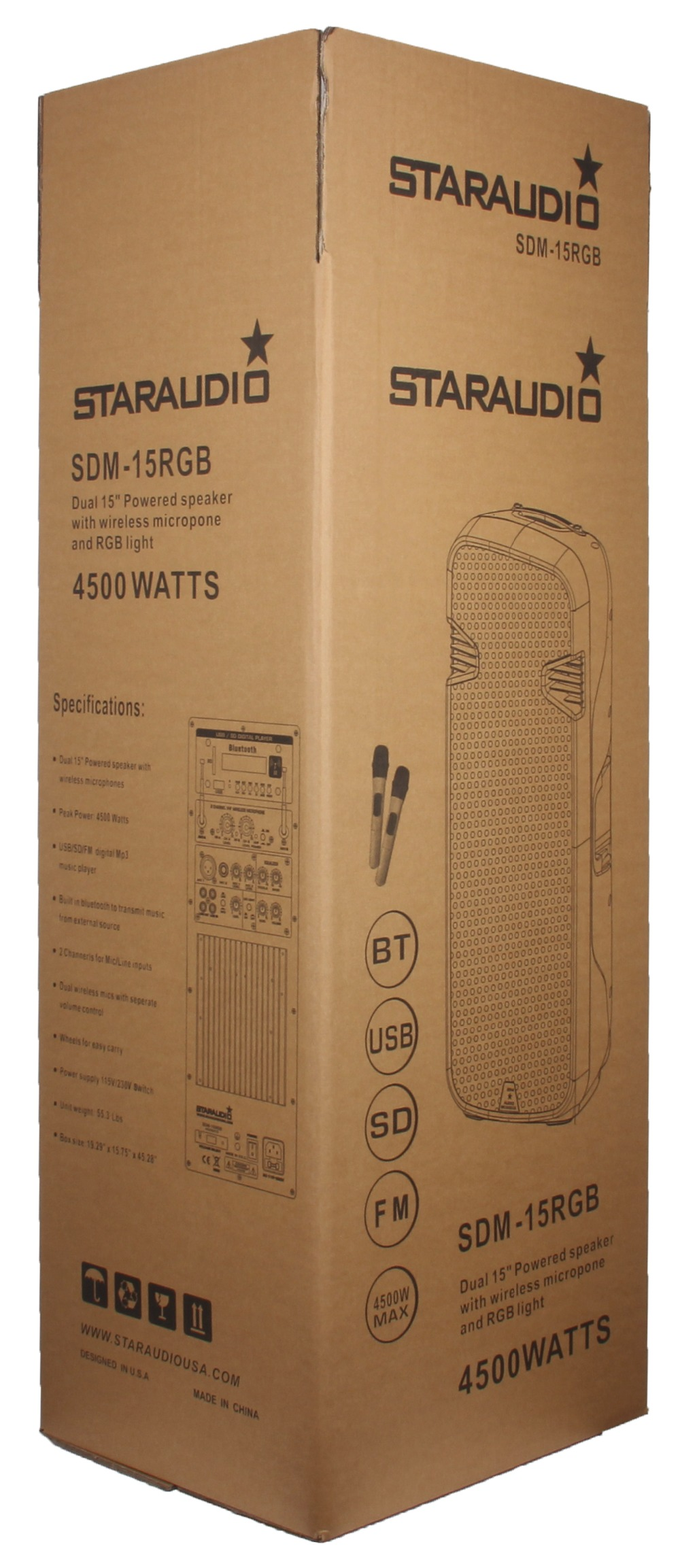 4500w 15\'\' powered speaker (12)