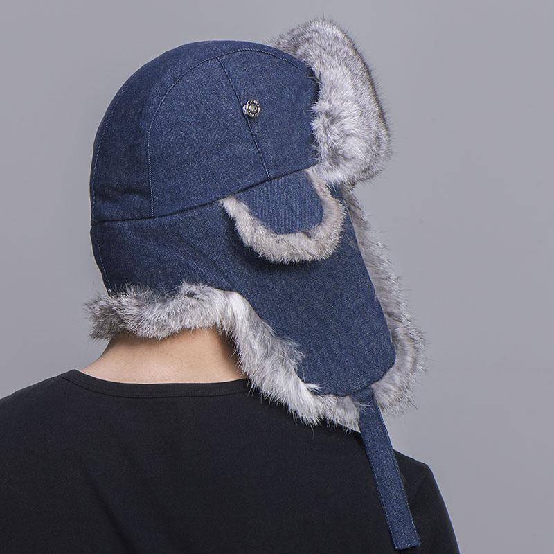 grey rabbit fur jean blue shell 1