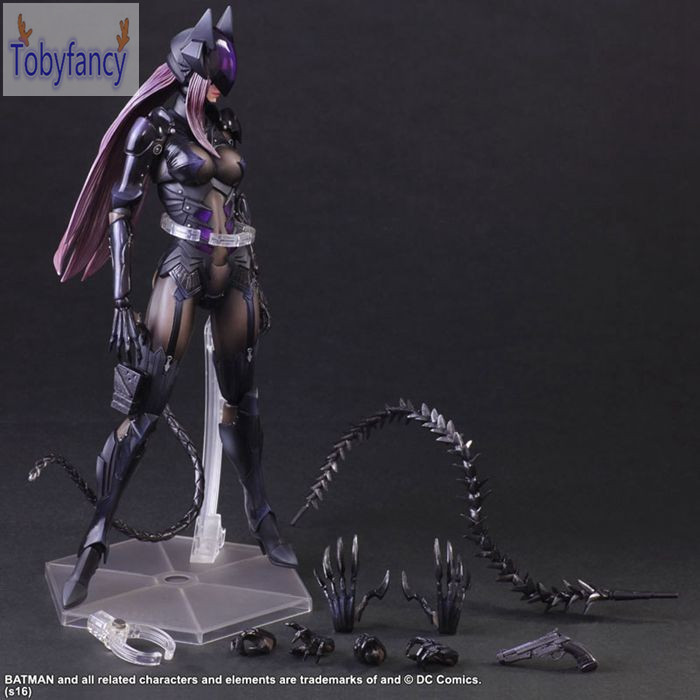 Catwoman Action Figure Playarts Kai Collection Model Anime Toy Movie Bat Man Play Arts Kai Catwoman 270mm Tobyfancy<br>