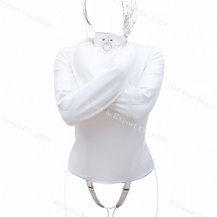 Aoyama White soft woman leather corsets bdsm bondage restraint Fetish Harnesses Wear Female Slave Roleplay Gear