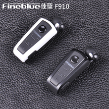100% Original Fineblue earphone F910 wireless v4.0 bluetooth headset vibration alert wear clip headset handsfree for phones