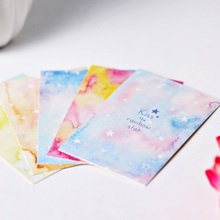 5.2*8cm 54pcs Mini Rainbow Star design leave message cards Lucky Love valentine Christmas Party Invitation Letter