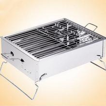 Thickening stainless steel Barbecue stove charcoal Household Portable Barbecue grill outdoor Barbecue/tb251004