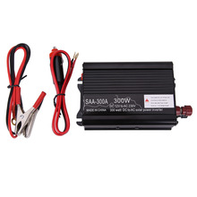 300W Solar Power Inverter DC 12V & AC 230V Modified Conventer with Car Charger & A Pair Alligator Clip For Television DVD Player