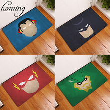 Homing Welcome Home Hallway Door Mats Cartoon Masquerade Super Hero Mask Colorfast Carpets Children Bedroom Bedside Foot Pads