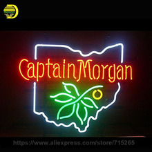 Neon Signs Captain Handmade Glass Tube Neon Bulb MorganNeon Light Sign Recreation Decorate Super Bright Commercial Display 19x15(China)