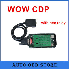 2pc/lot cars and truck diagnostic tool new WOW SNOOPER CDP no bluetooth +wow software professional obdII scanner(China)