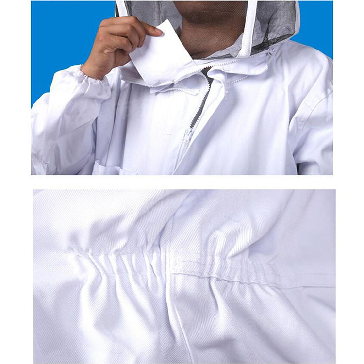 Aolamegs-Apiarist Beekeeping Suit-White-(All-in-One)-Fencing Veil-Total Protection for Professional & Beginner Beekeepers (8)