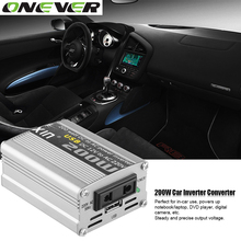 12V DC to AC 220V 50HZ Car Auto Power Pure Sine Inverter Converter Adapter Adaptor 200W USB Car Charger 400W Peak Power 1PCS