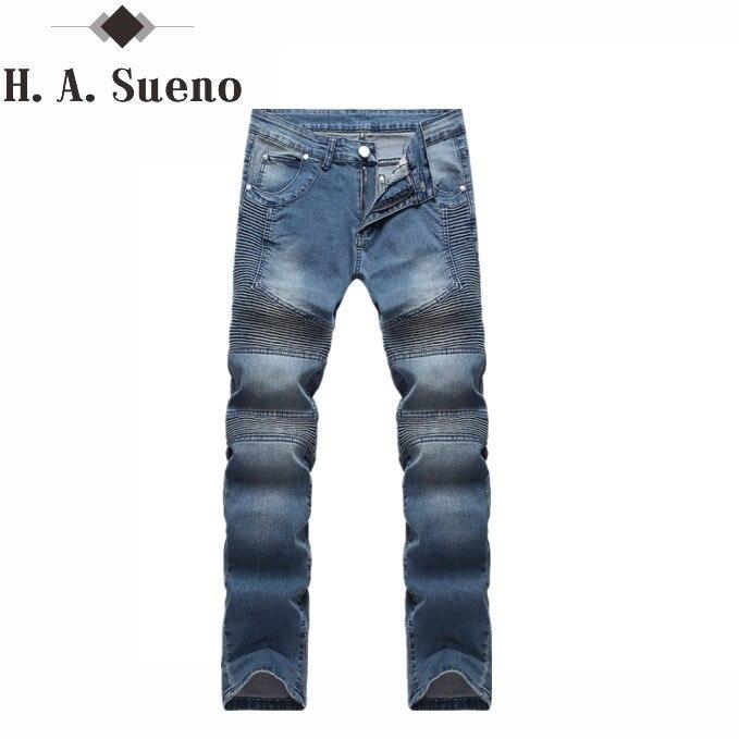 Biker Jeans mens denim biker jeans zipper straight men strech slim fit quality jeans classic blue cheap biker jeans hip hopÎäåæäà è àêñåññóàðû<br><br>