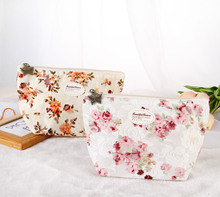 Fresh Summer New Lace Flower Women  Cosmetic bag Makeup bag Trave Zipper Case Ladies Organizer Toiletry bag kits Wash pouch