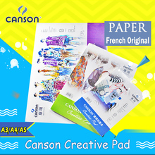 Canson Artist Pro Creative Pad Fold Over French Original spiral paper sketchbooks A3 A4 A5 siyah defter agenda blank notebooks(China)