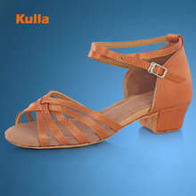 Buy KULLA Ballroom Salsa Tango Latin Dance Shoes Low Heels Dancing Kids Girls Children Women Ladies Zapatos De Baile Latino L40 for $12.91 in AliExpress store