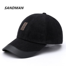 SANDMAN 1Piece Baseball Cap Women Men Adjustable Cap Casual Corduroy Hats Solid Color Fashion Snapback Summer Winter Hip Hop Hat