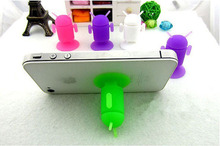 500pcs/lot Silicone Sucker Stand/Suction Cups Android Robot Holder Stand for moblie phone&mp3&mp4&tablet pc&ipad Free shipping!