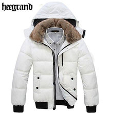 Thick Warm Men Winter Coat 2017 Hot Fashion Jacket Men Parka Leisure Wear High Quality Plus Size Black White MWM001