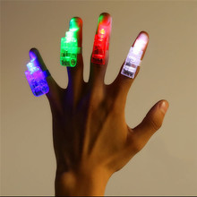 5PCS LED Finger Lights Beams Flashing Light up Party Favors Lamp Dance Disco Show Hot