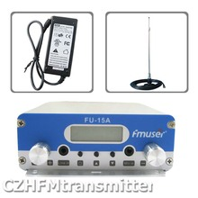 FMUSER FU-15A V1.0 FM stereo PLL broadcast transmitter+car sucker antenna+power adapter 87.5-108MHZ(China)