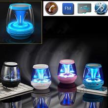 Cool Unique design Bluetooth Wireless Stereo Speaker With 4modes LED Magic Lights TF card support